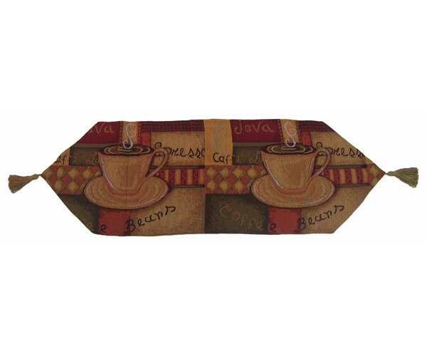 Smell of Coffee Woven Table Runner by DaDa Bedding