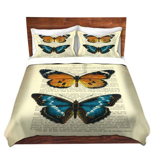 Monarch Butterflies Duvet Cover Set