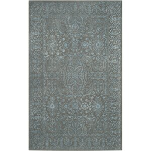 Samaniego Hand-Tufted Blue/Dark Gray Area Rug
