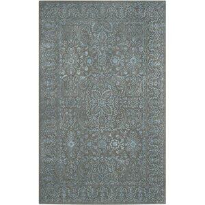 Samaniego Hand-Tufted Blue/Dark Gray Area Rug
