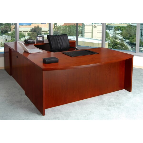 Mira Series U-Shape Executive Desk by Mayline Group