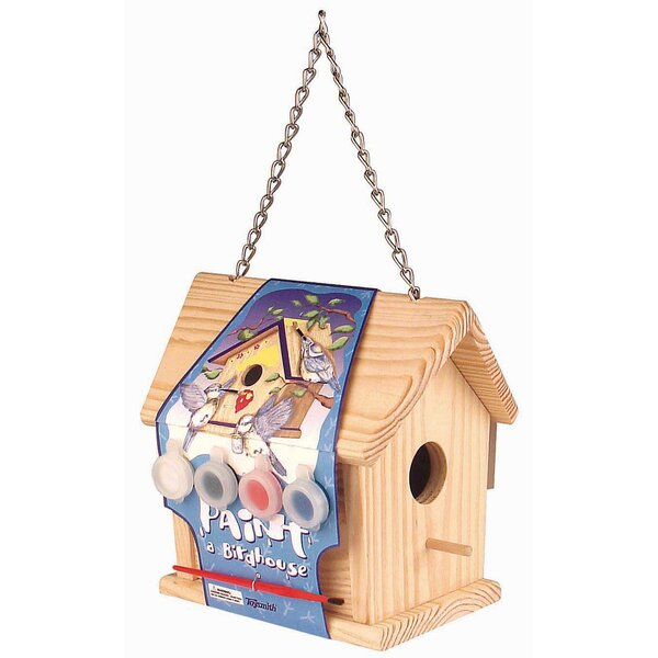 Paint-A 5.5 in x 6 in x 3.5 in Birdhouse by Toysmith