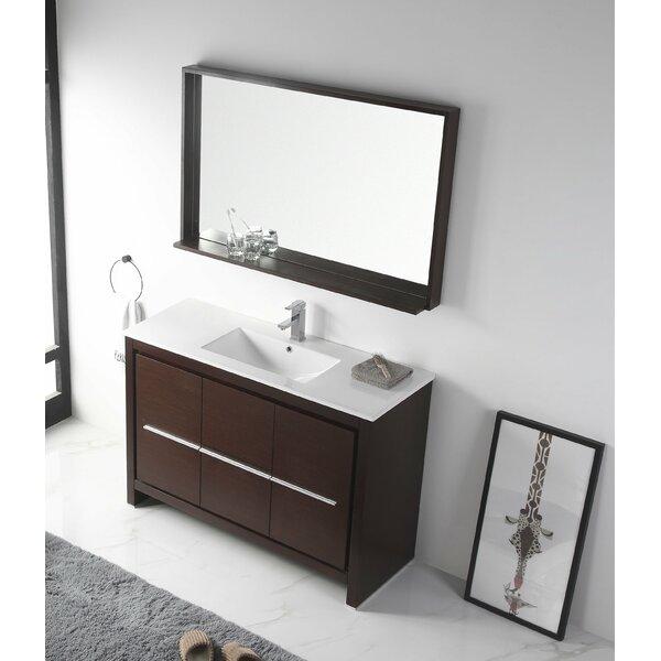Burslem 48 Single Bathroom Vanity Set with Mirror