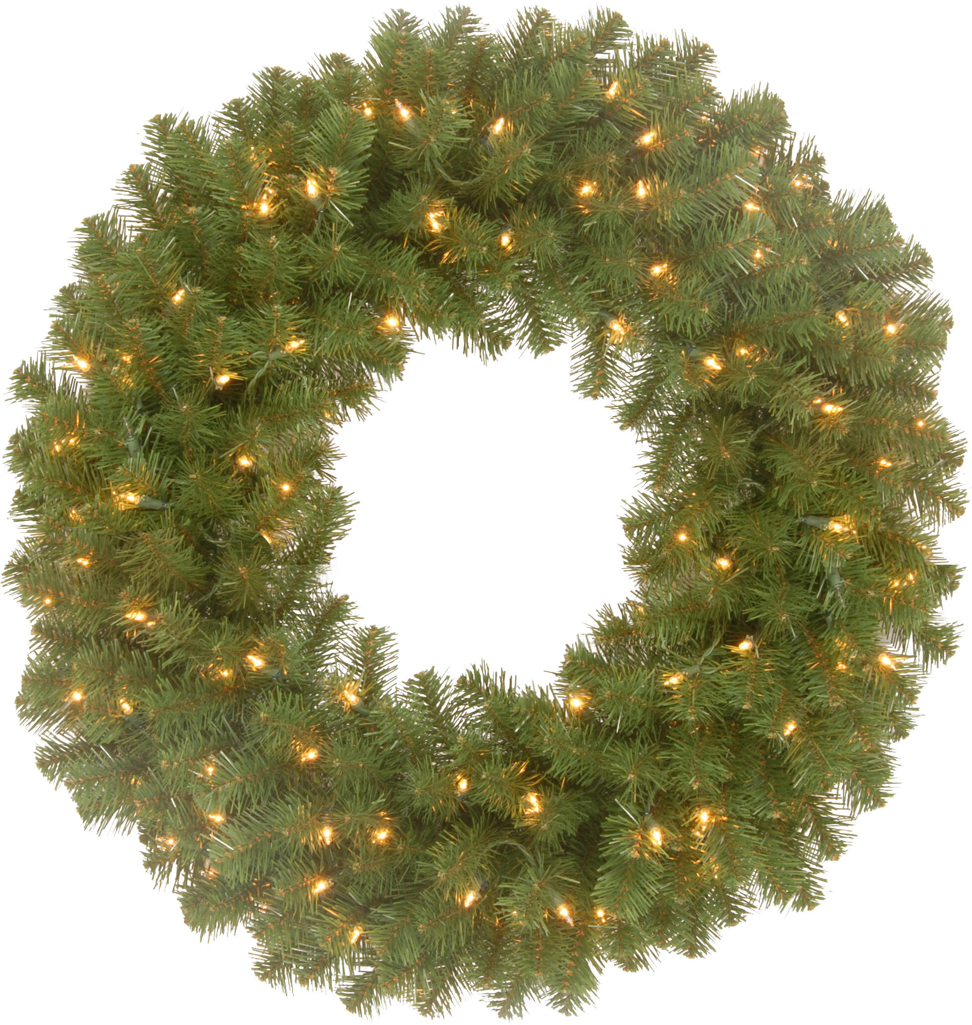 three posts spruce wreath with changing colored led lights reviews wayfair
