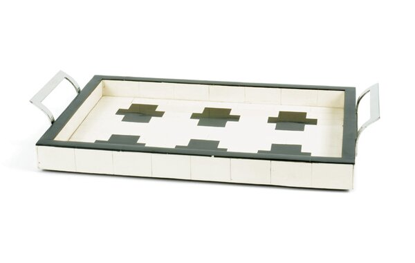 Rectangle Polished  Stainless Steel Cross Serving Tray by Darby Home Co