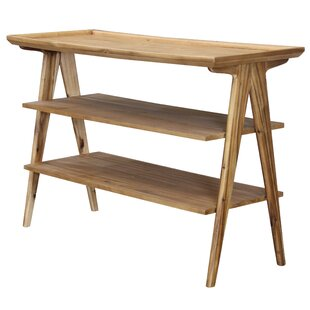 Read Reviews Mastrangelo Rectangular 3-Tier Console Table by Union Rustic