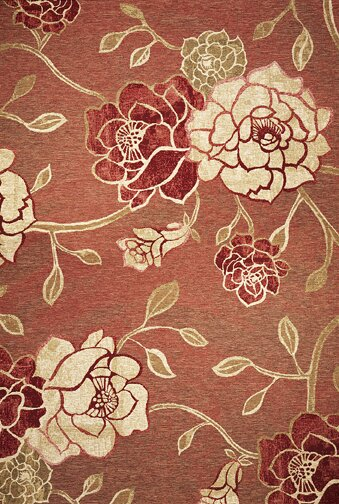 Freeport Brick Red Flora Indoor/Outdoor Area Rug by Charlton Home