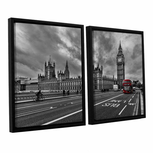 Double Decker, London 2 Piece Framed Photographic Print Set by Red Barrel Studio