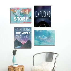 4 Piece Explore Paper Print Set by Global Artisan Kids Collection