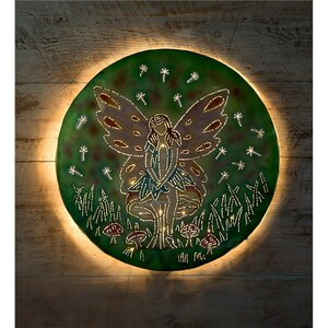 Fairy on Mushroom Lighted Wall Décor by Wind & Weather