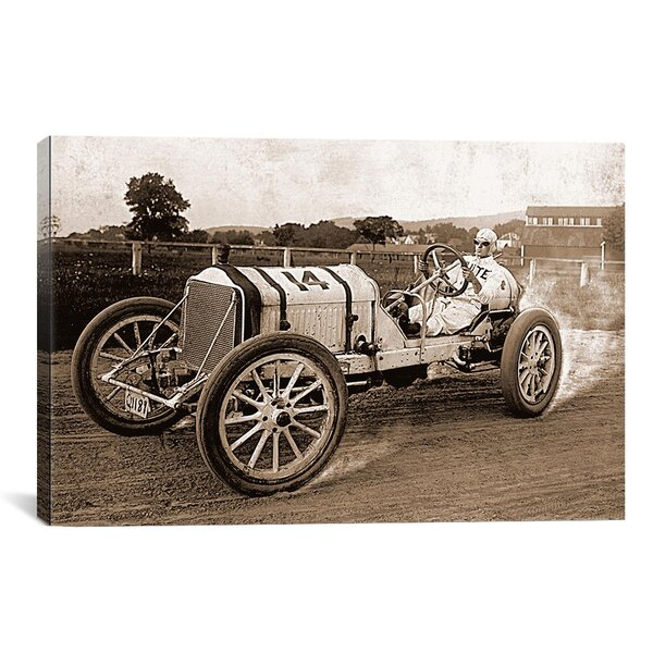Vintage Race Car Photographic Print on Canvas by Charlton Home