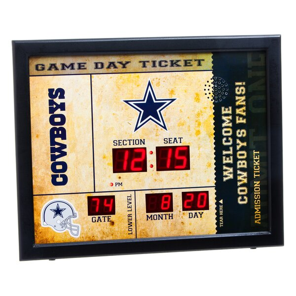 NFL Bluetooth Scoreboard Wall Clock by Evergreen Enterprises, Inc