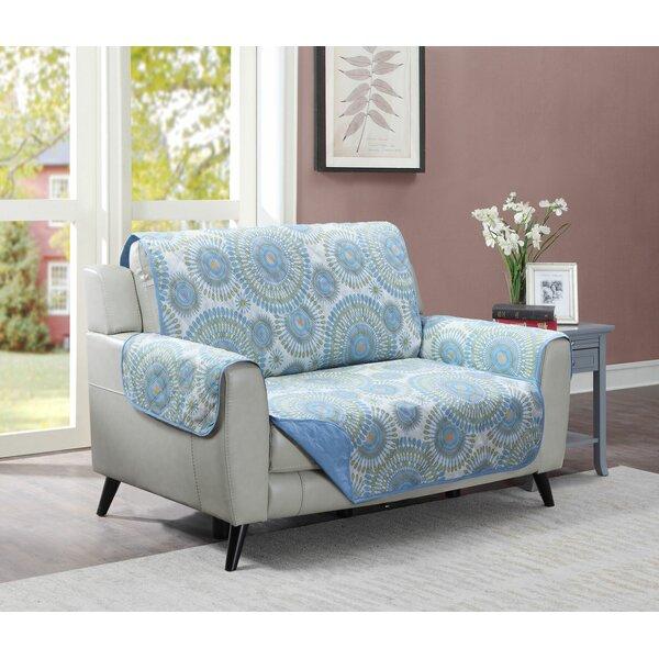 Starburst Box Cushion Loveseat Slipcover By Winston Porter