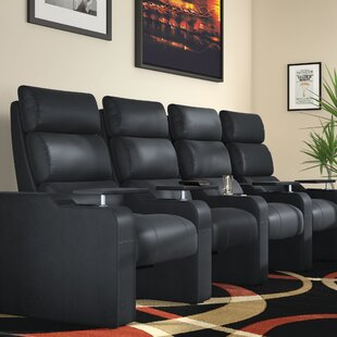 Manual Group Rocker Recline Home Theater Row Seating (Row of 4) by Latitude Run