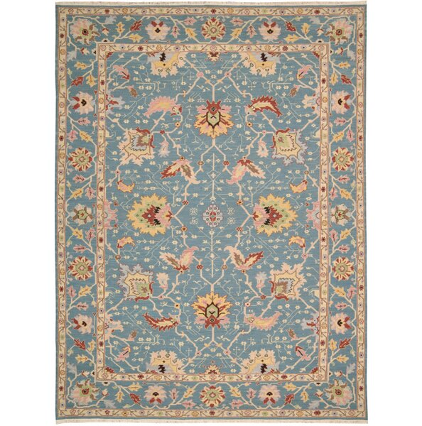 Pierson Hand-Woven Blue Area Rug by Bloomsbury Market