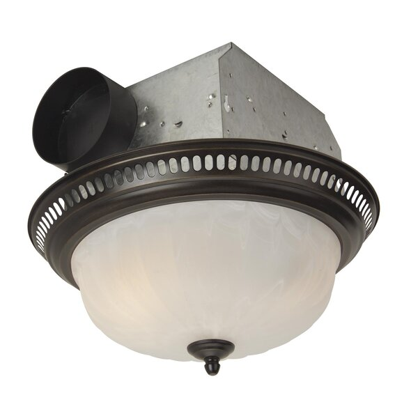 Decorative Designer Bath Fan with Light in Oil Rubbed Bronze by Craftmade