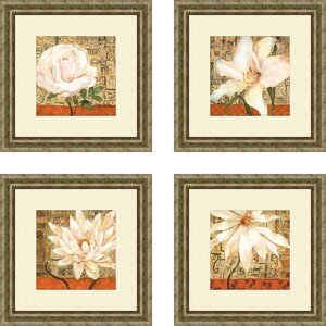 'Opulence' 4 Piece Framed Graphic Art Set by Alcott Hill