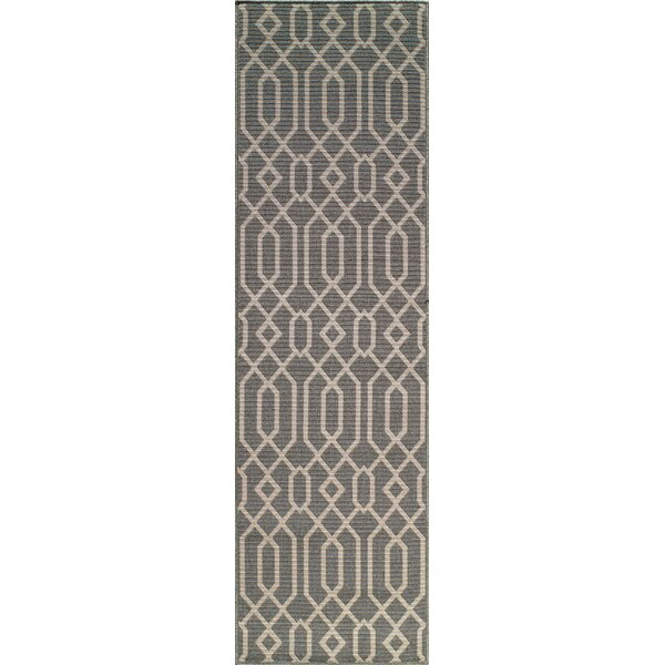 Halliday Geometric Gray Area Rug