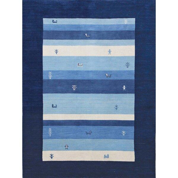 Pressley Navy Blue Area Rug by Bloomsbury Market