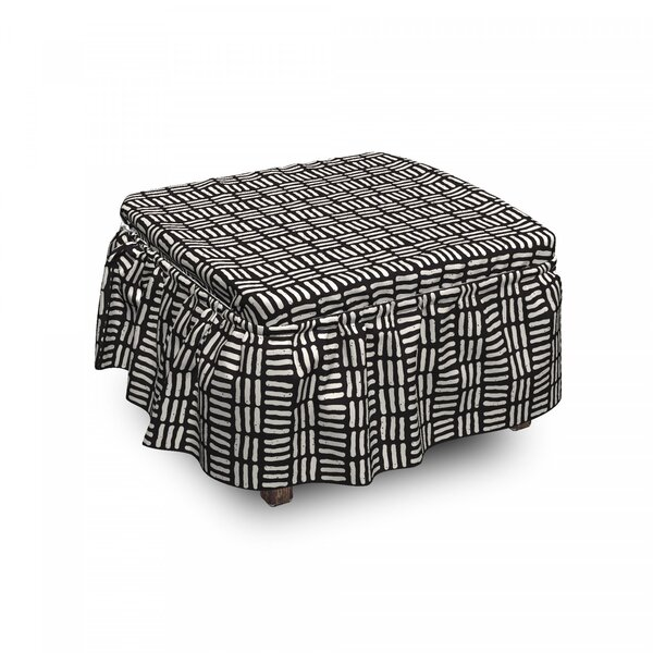 Art Stripes Ottoman Slipcover (Set Of 2) By East Urban Home