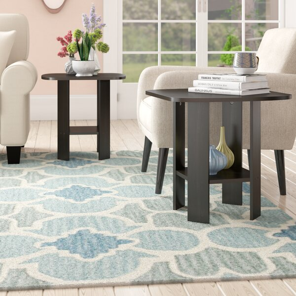 Pellegrini Simple Design End Table (Set of 2) by Latitude Run