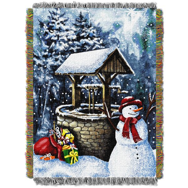 Snowman Wishing Well Throw by Northwest Co.