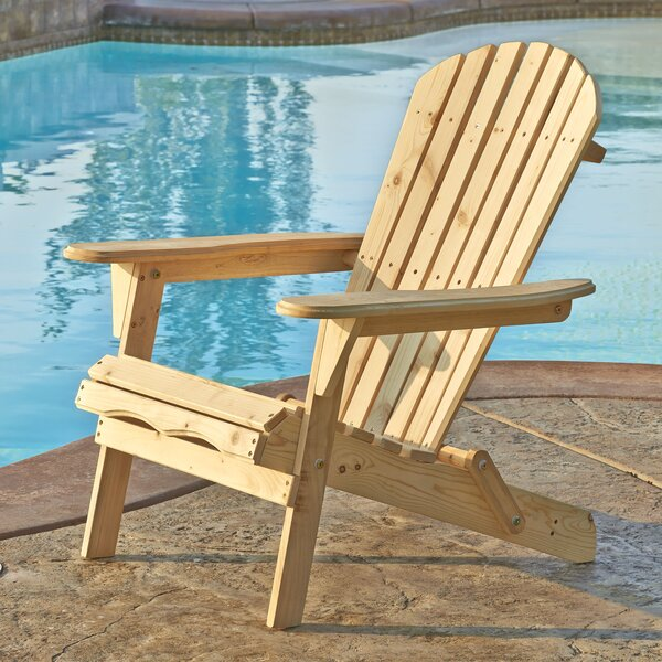 Whetsel Solid Wood Folding Adirondack Chair by Highland Dunes Highland Dunes
