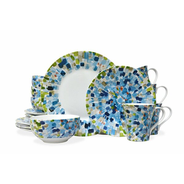 Solena 16 Piece Dinnerware Set, Service for 4 by 222 Fifth