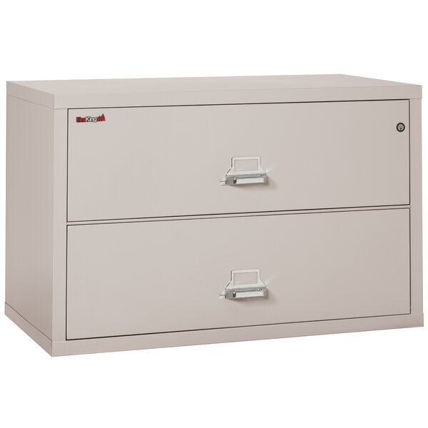Fireproof 2-Drawer Lateral File Cabinet by FireKingFireproof 2-Drawer Lateral File Cabinet by FireKing