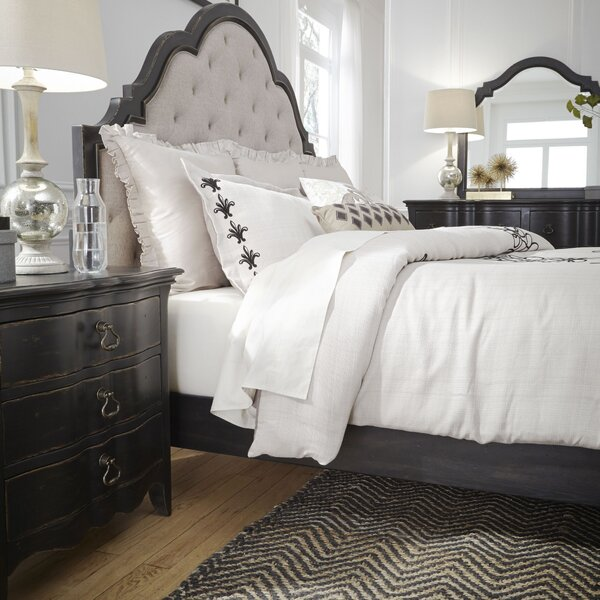 Bartow Upholstered Panel Headboard By Three Posts