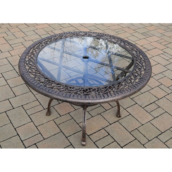 Rose Glass Dining Table by Oakland Living
