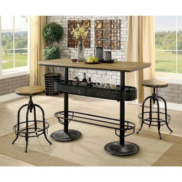 Nerstrand 3 Piece Pub Table Set by Williston Forge