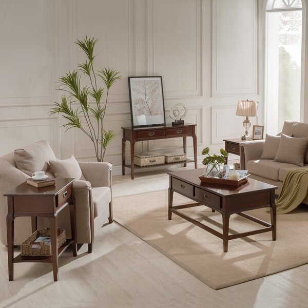Jacobsen 3 Piece Coffee Table Set By Charlton Home