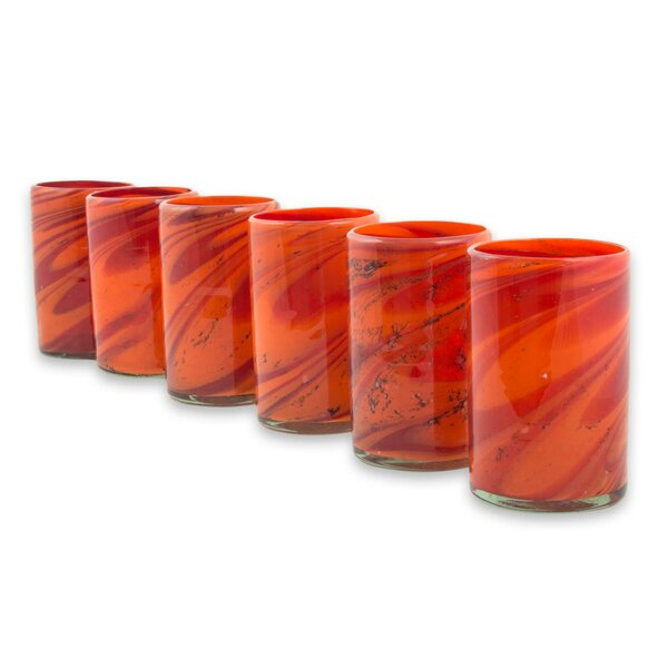 Jame Tornado of Fire 13 oz. Highball Glass (Set of 6) by Latitude Run