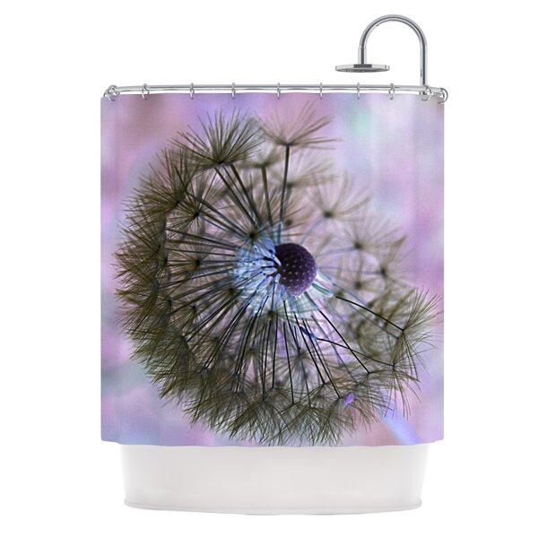 Dandelion Clock Shower Curtain by KESS InHouse