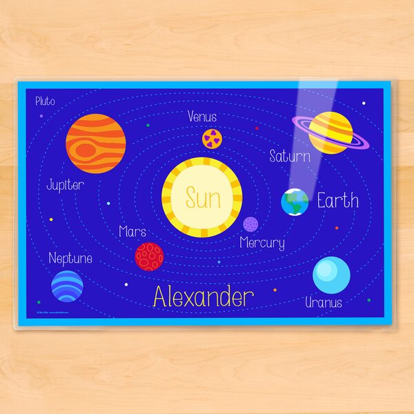 Planets Personalized Placemat by Olive Kids
