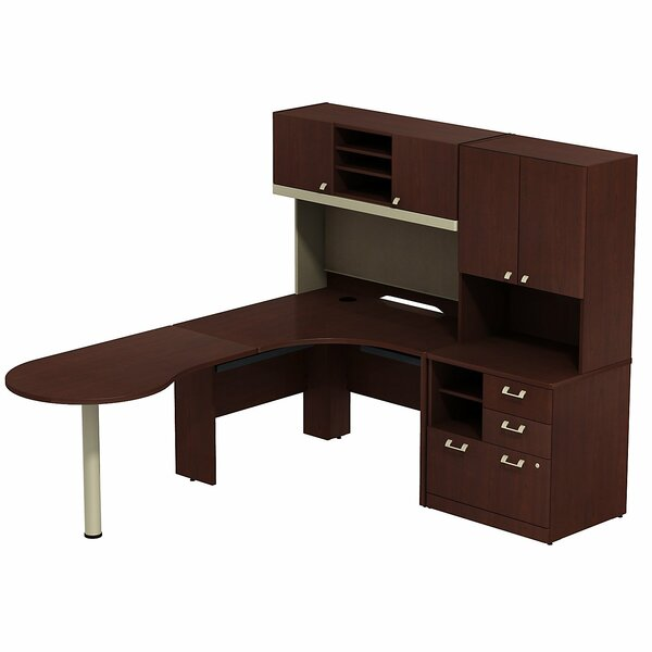 Quantum Peninsula 3 Piece L-Shape Desk Office Suite by Bush Business Furniture