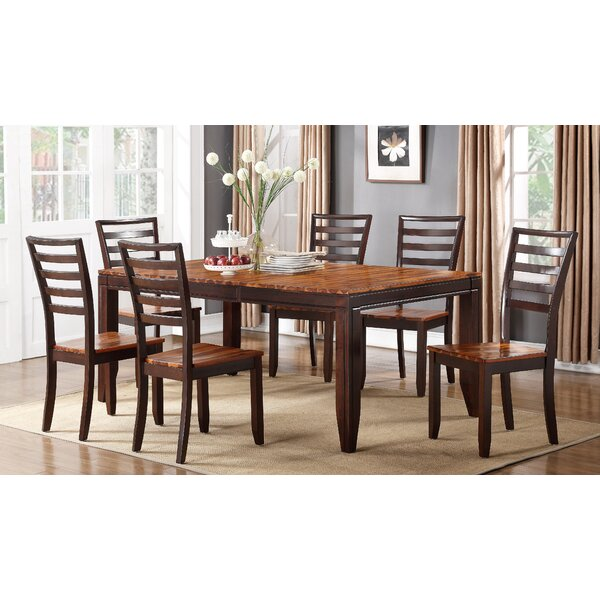 Lannon Contemporary Drop Leaf Solid Wood Dining Table by Alcott Hill