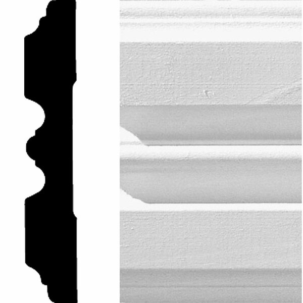 3/4 in. x 4-1/4 in. x 8 ft. MDF Fluted Casing Moulding by Manor House