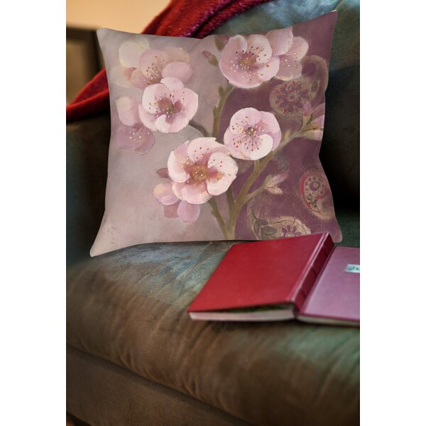 Gypsy Blossom II Printed Throw Pillow by Manual Woodworkers & Weavers