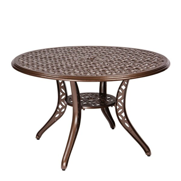 Casa Umbrella Dining Table by Woodard