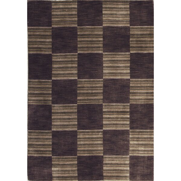 Gabbeh Hand-Knotted Wool Brown Area Rug by Bokara Rug Co., Inc.