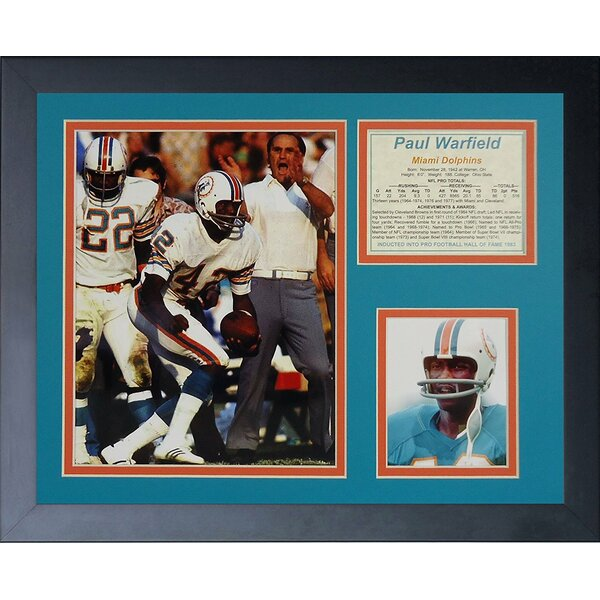Paul Warfield Framed Memorabilia by Legends Never Die