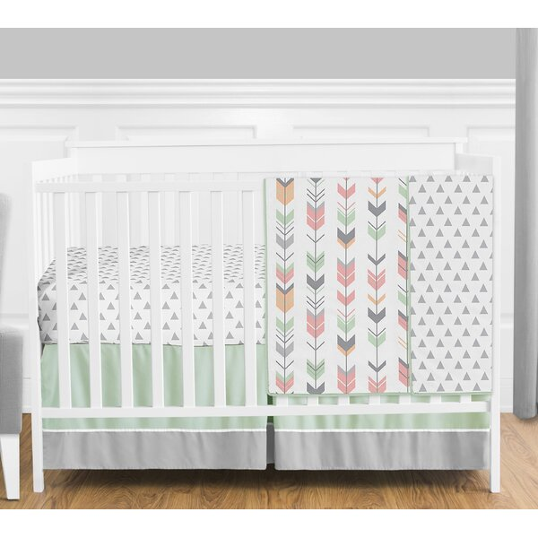 Mod Arrow 4 Piece Crib Bedding Set by Sweet Jojo Designs