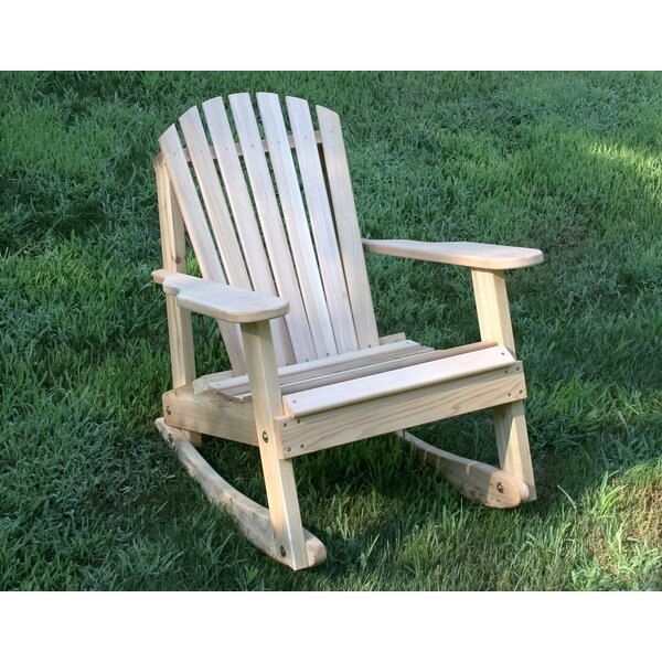 Marcum Rocking Adirondack Chair by Rosecliff Heights