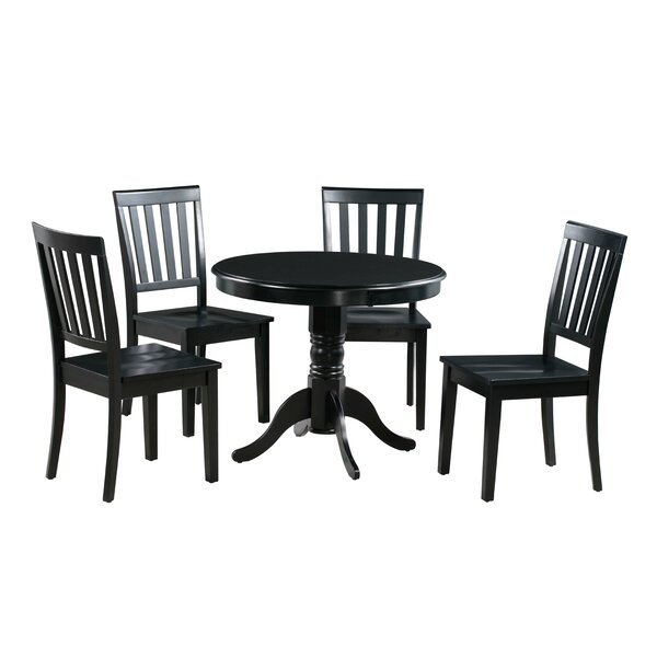 Find Erica 5 Piece Solid Wood Dining Set By Alcott Hill Cheap
