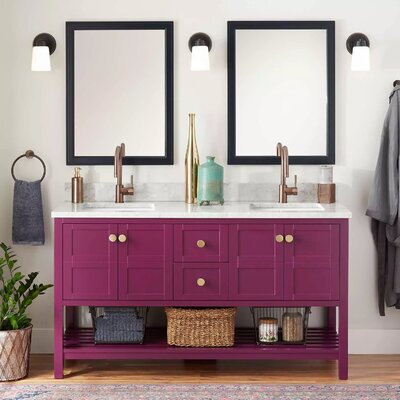Signature Hardware Double Bathroom Vanity Vanities