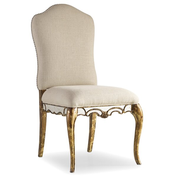Isai Upholstered Parsons Chair in Beige by One Allium Way One Allium Way