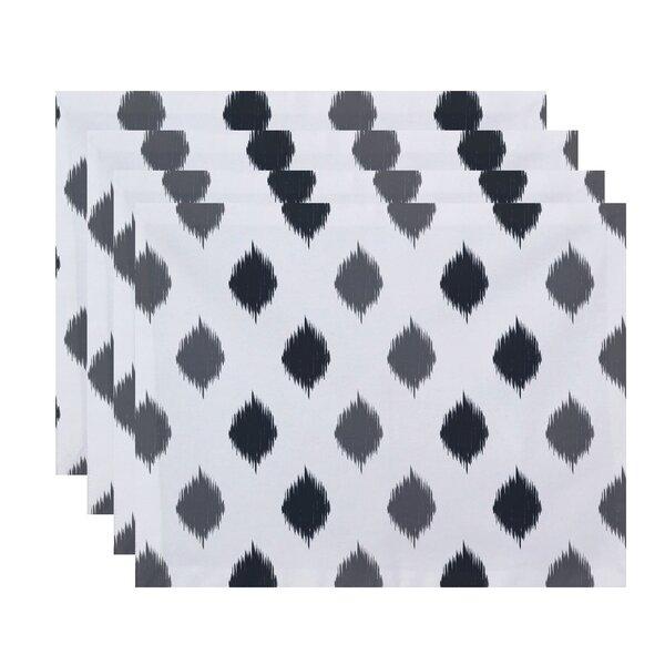 Scudder Ikat Dot Stripes Geometric Print Placemat (Set of 4) by Brayden Studio