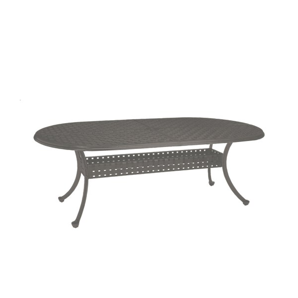 Double Lattice Cast Aluminum Dining Table by Summer Classics